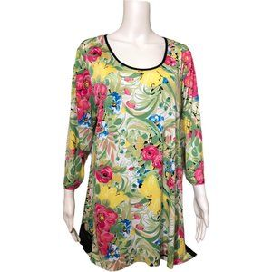 Peter Nygard Floral Flowy Tunic